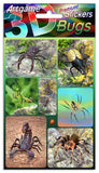 Dinosaur 3D Lenticular Stickers by Artgame - One Sheet of 8 Assorted Prehistoric Stickers - Off The Wall Toys and Gifts