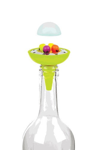 Alien Spaceship Bottle Stopper w/Set of 4 Drink Charms - Off The Wall Toys and Gifts