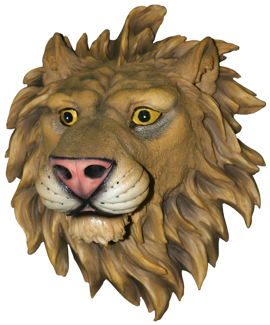 Mounted Lion Head Hanging Wall Art Attack Plaque - Off The Wall Toys and Gifts