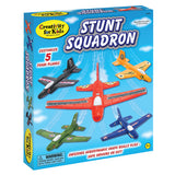 Stunt Squadron Foam Airplanes Kit - Make 5 Flying Foam Planes - Off The Wall Toys and Gifts