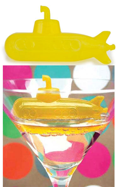 Sub Zero Yellow Submarine Reusable Ice Cubes: Set of 6 - Off The Wall Toys and Gifts
