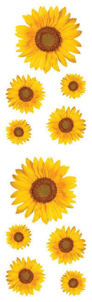 Mrs Grossman's Stickers - Sunflower Photos - Off The Wall Toys and Gifts