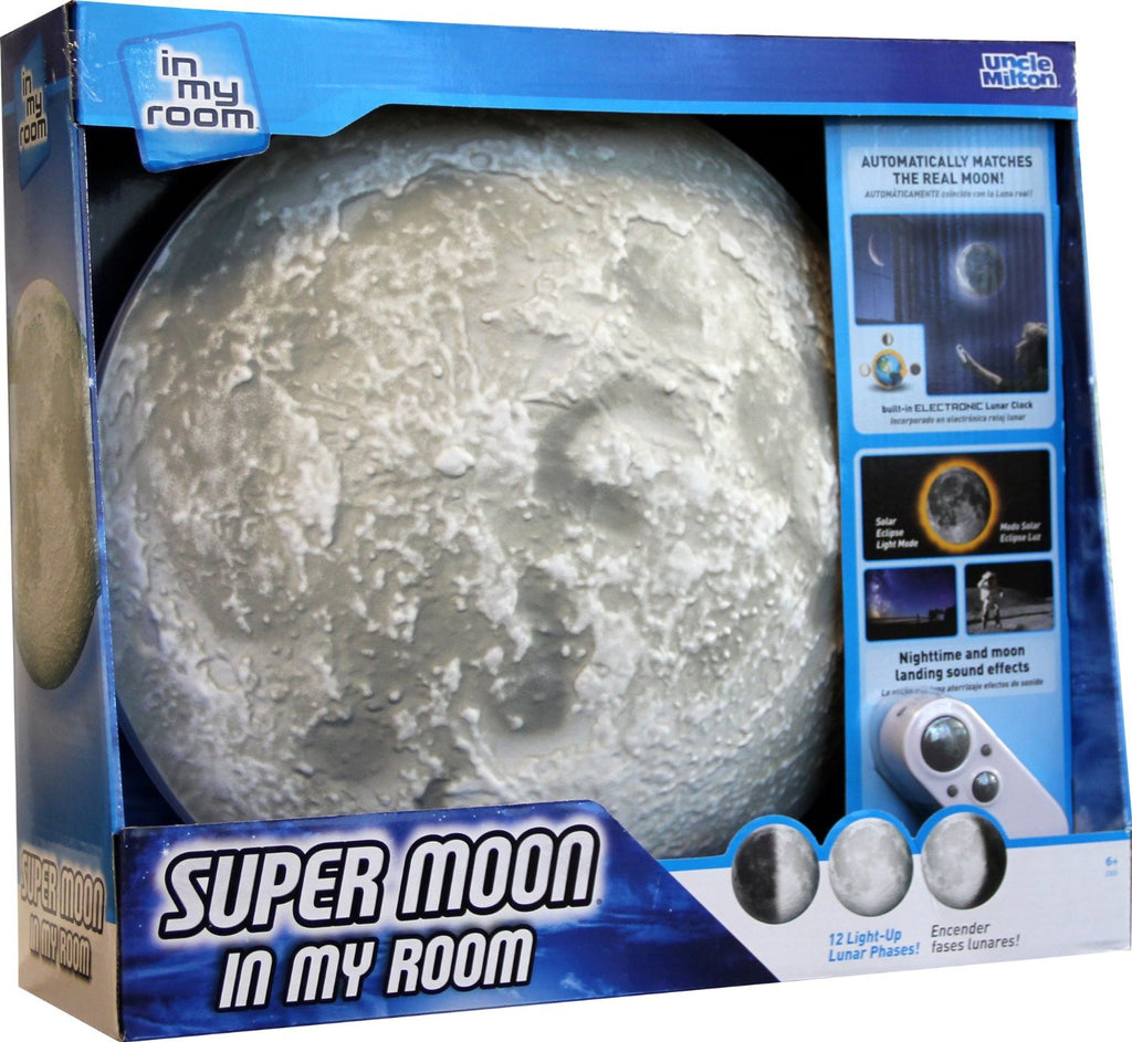 Uncle Milton Super Moon In My Room - Lunar Phases Lamp