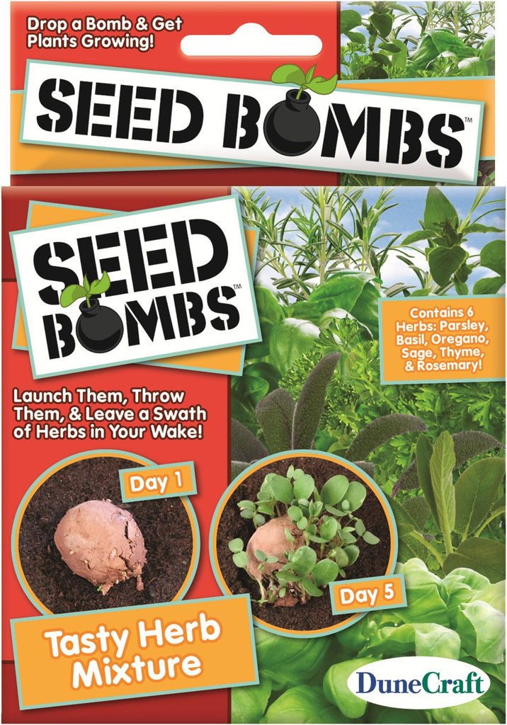 6 Seed Bombs - Tasty Herb Mixture