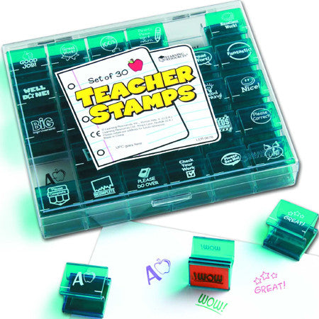 Jumbo Teacher Stampers-Set of 30 Rubber Stamps