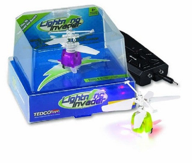 Lightning Invader - Remote Control Drone - Hovers & Flashes - Colors Vary
