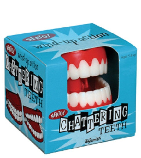 Classic Chattering Teeth Wind-up Novelty Toy