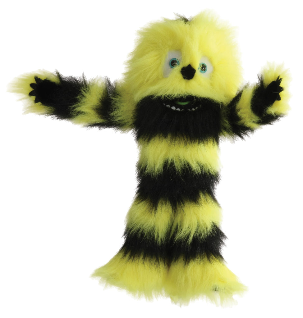 Big Yellow & Black Monster Puppet W Squeaker Voice