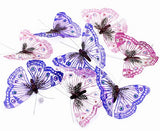 Big Glitter Butterfly Garland - Pink & Blue w Jewels - Off The Wall Toys and Gifts