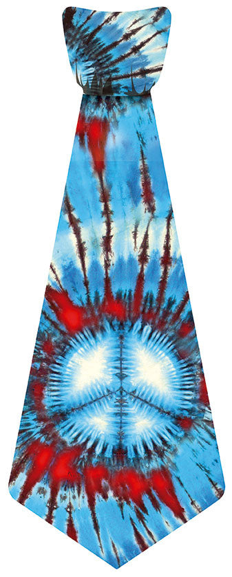 EvREwares Sticky Tie Wearable Fabric Stickers Tie Dye Peace
