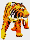 16 inch Realistic Rubber Animal Replica - Tiger - Off The Wall Toys and Gifts