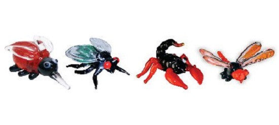 Looking Glass Torch - Figurines - Mosquito, Fly, Scorpion & DamselFly (4-Pack)