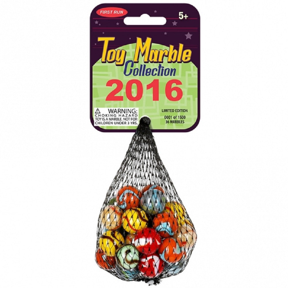 2016 Limited Edition Collection 36 Piece Set - Glass Mega Marbles - Off The Wall Toys and Gifts