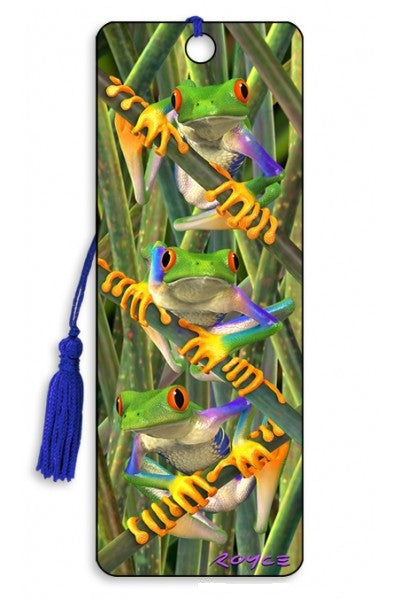 Tree Frogs 3D Lenticular Bookmark with Tassel by Artgame