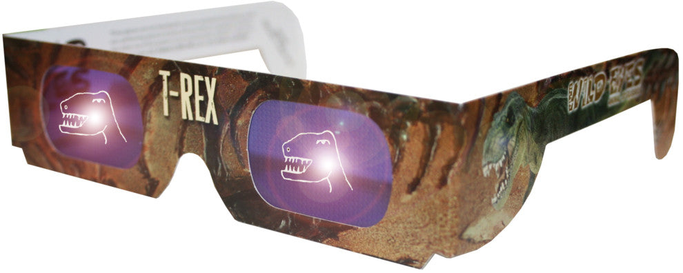 Holographic T-Rex Wild Eyes 3D Animal Glasses - Off The Wall Toys and Gifts