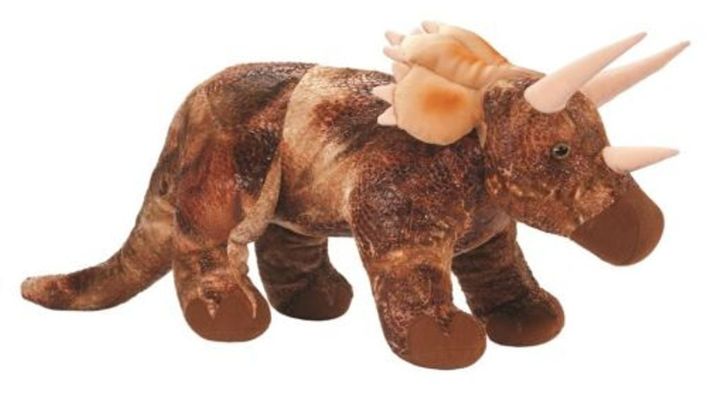 Large  28 Inch Plush Triceratops Stuffed Animal w/Sound - Off The Wall Toys and Gifts