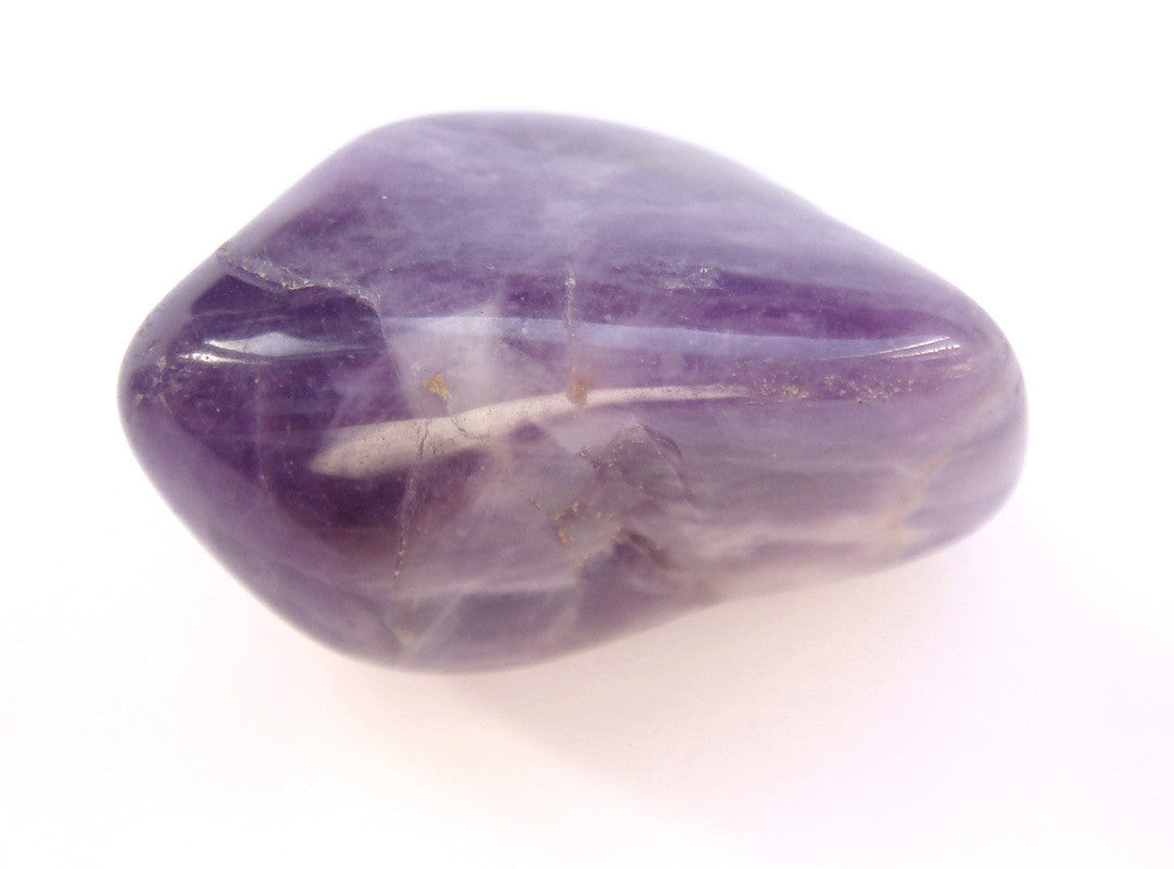 Amethyst Gemstone Rock Tumbled 1-1.25 Inch w Info Card - Off The Wall Toys and Gifts