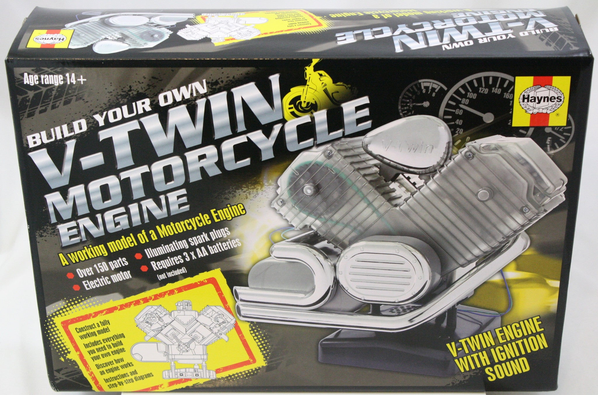 Build Your Own Working V-Twin Motorcycle Engine Model, Endorsed by the Haynes Manual - Off The Wall Toys and Gifts