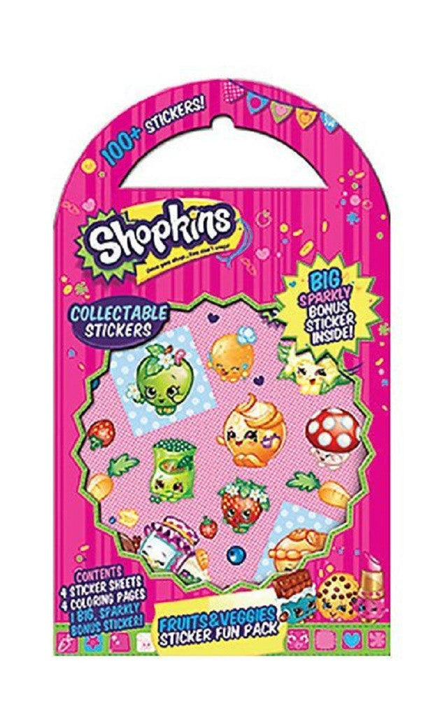 Shopkins Fruits & Veggies Stickers - Fun Pack of 100 Stickers, by Mrs. Grossman - Off The Wall Toys and Gifts
