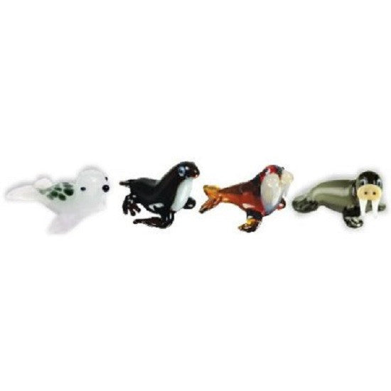 Looking Glass Miniature Collectible - 2 Different Seals & 2 Different Walrus (4-Pack)