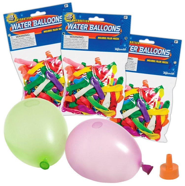 120 WATER Balloons with Re-usable Filler Funnel - Off The Wall Toys and Gifts