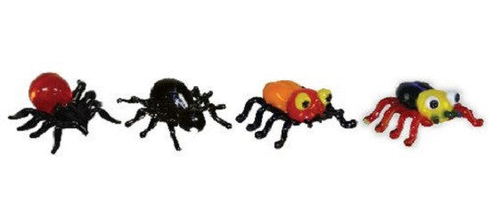 Looking Glass Torch - Figurines - 4 Different Spiders (4-Pack) - Off The Wall Toys and Gifts