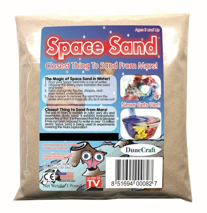 White (Natural) Space Sand: 1lb of Hydrophobic Sand - Off The Wall Toys and Gifts