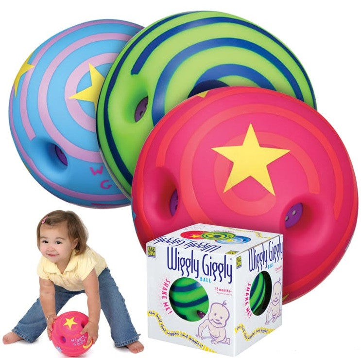 Large 7 inch Wiggly Giggly Ball by Toysmith Ages 12 Months
