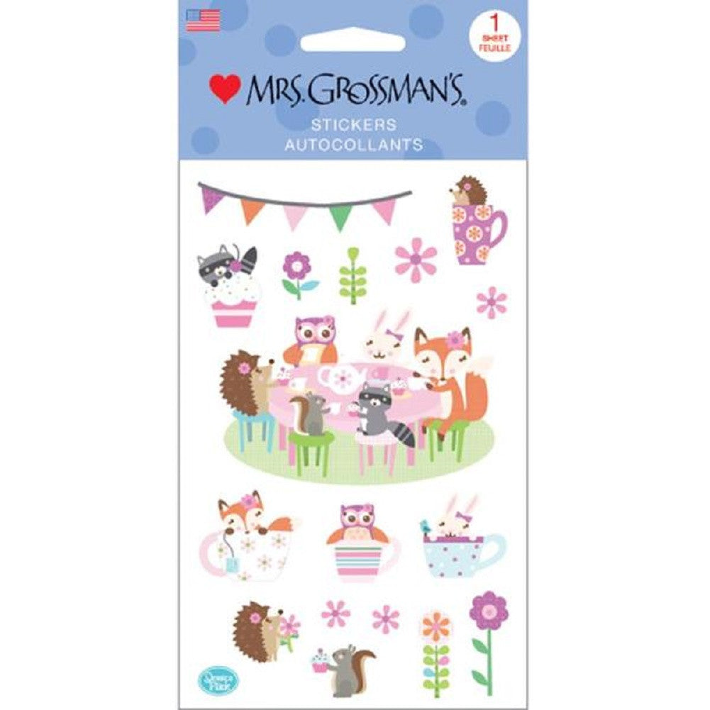 Mrs. Grossman's Stickers Woodland Tea Party - Off The Wall Toys and Gifts