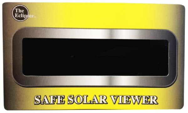 The Eclipser Safe Solar Viewers, CE Certified, Yellow/Black Frames - 5 Pack
