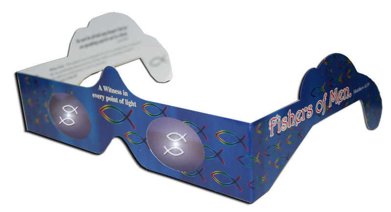 Ichthus (fish) Eyewitness Glasses Specs Holographic Lenses Quantity Discounts - Off The Wall Toys and Gifts