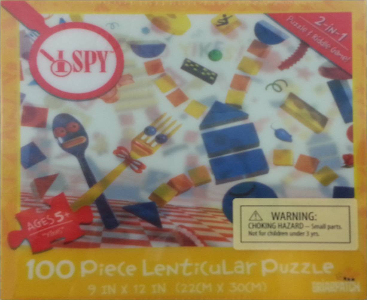 I SPY Yikes - 3D Lenticular Puzzle & Riddle Game - 100 Pieces - Off The Wall Toys and Gifts