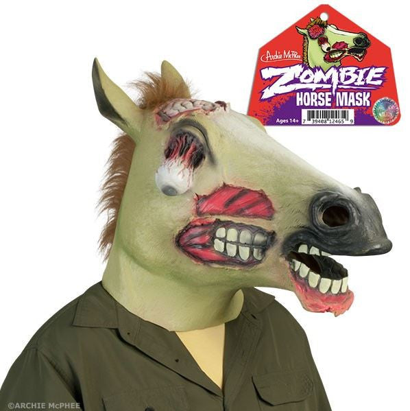 Latex Zombie Horse Mask - Halloween Costume