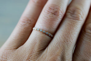 14kt Rose Gold Diamond Ring Band Wedding Engagement Stack Dainty