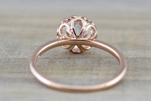 Mandi 14k Gold Solitaire Round Forever Brilliant Moissanite Ring