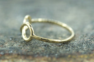 14k Yellow Gold Polished Infinity Love Symbol Ring Band Promise Anniversary Fashion Rope