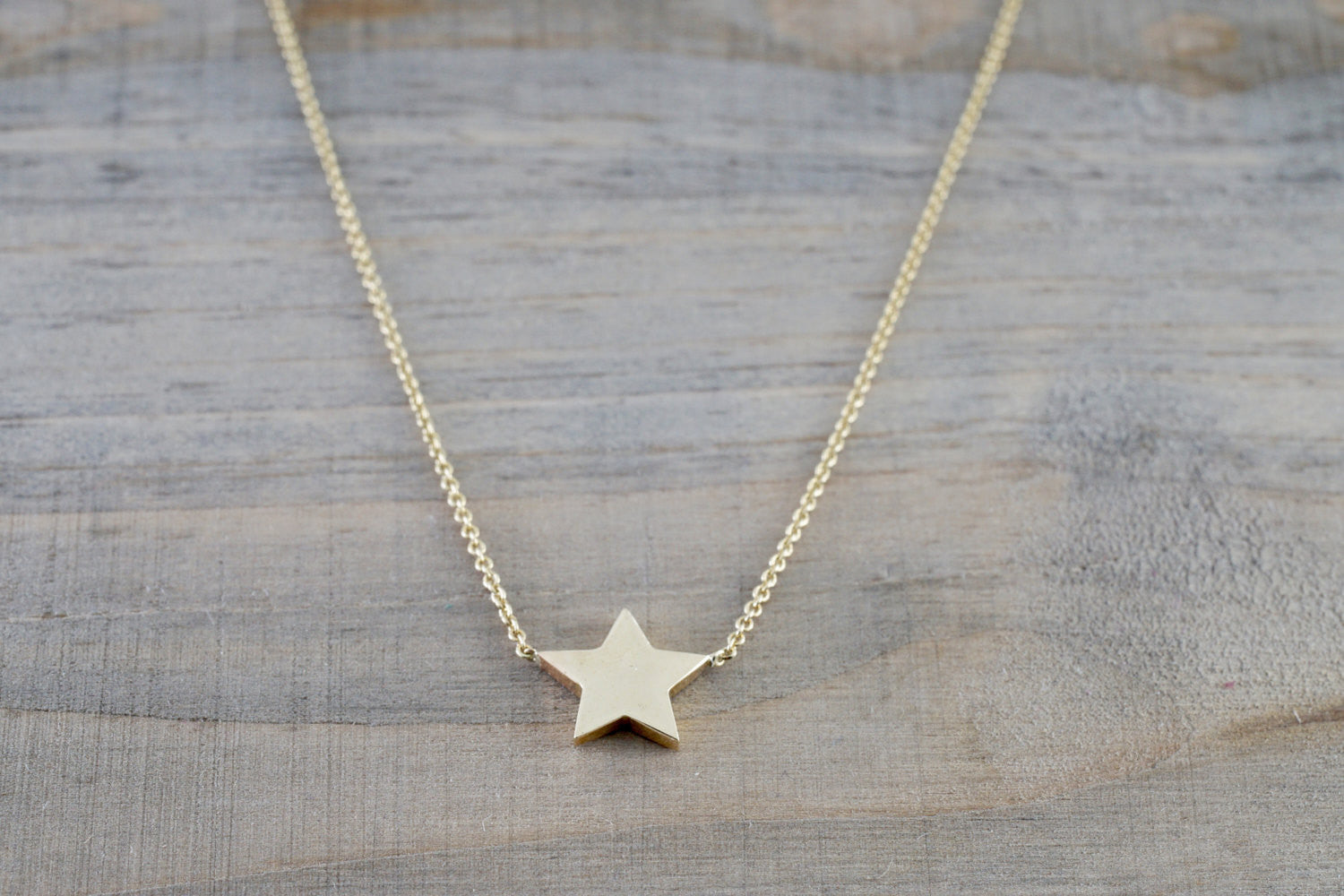 14k Yellow Gold Little Star Twinkle Charm Pendant