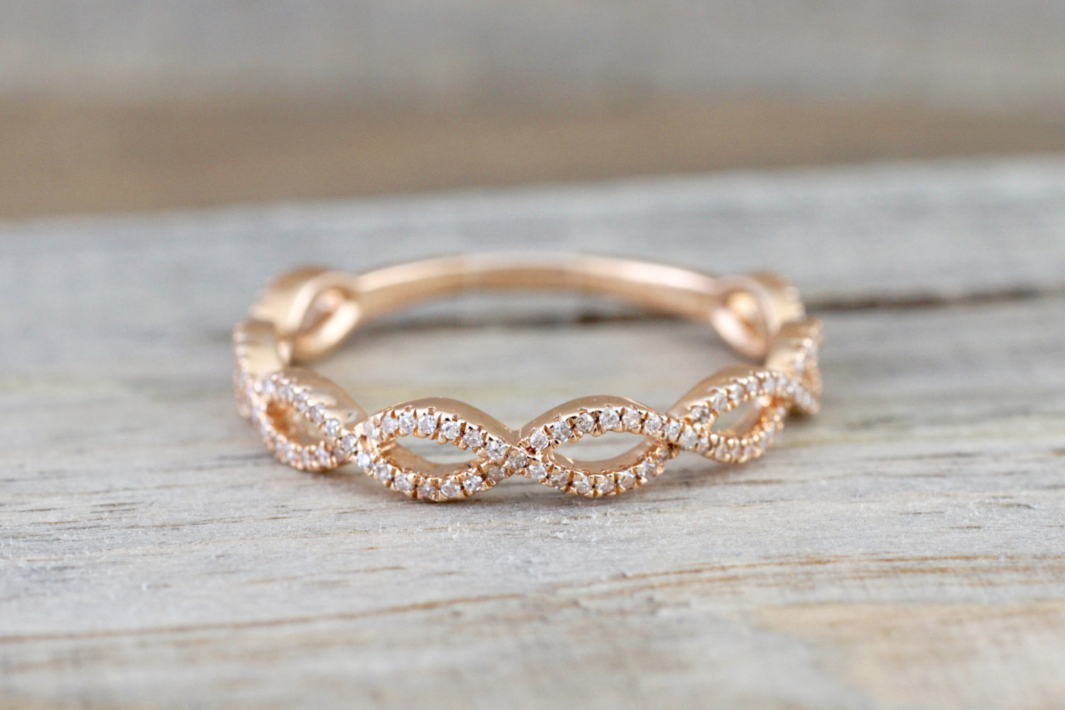 band in bands p pave set gold m infinity wedding rose diamond twist