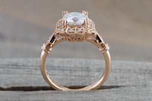 6.5mm Moissanite 18k Rose Gold Ring