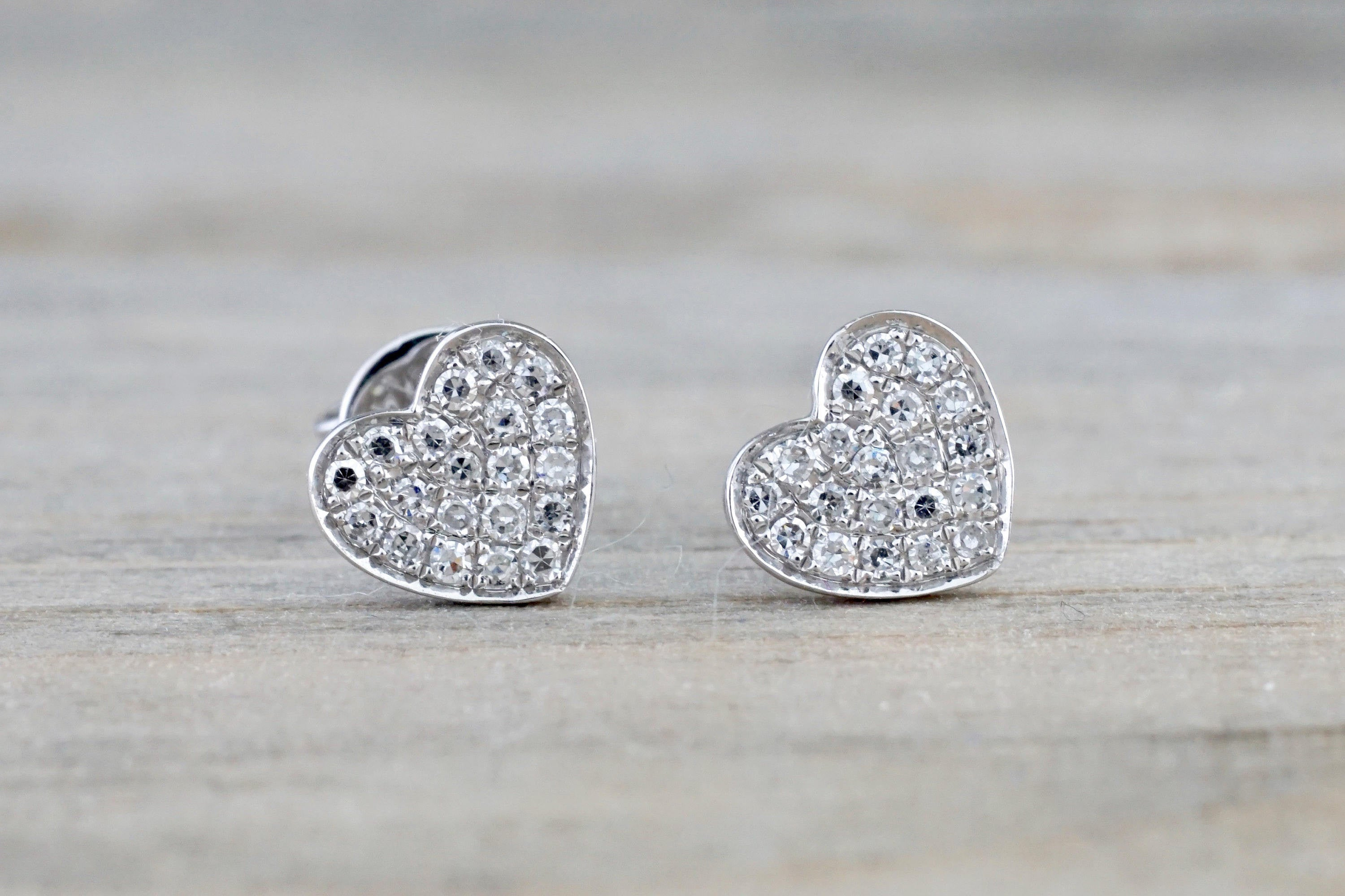 il design disk post earrings flat diamond fullxfull gold white studs products round pave stud heart micro