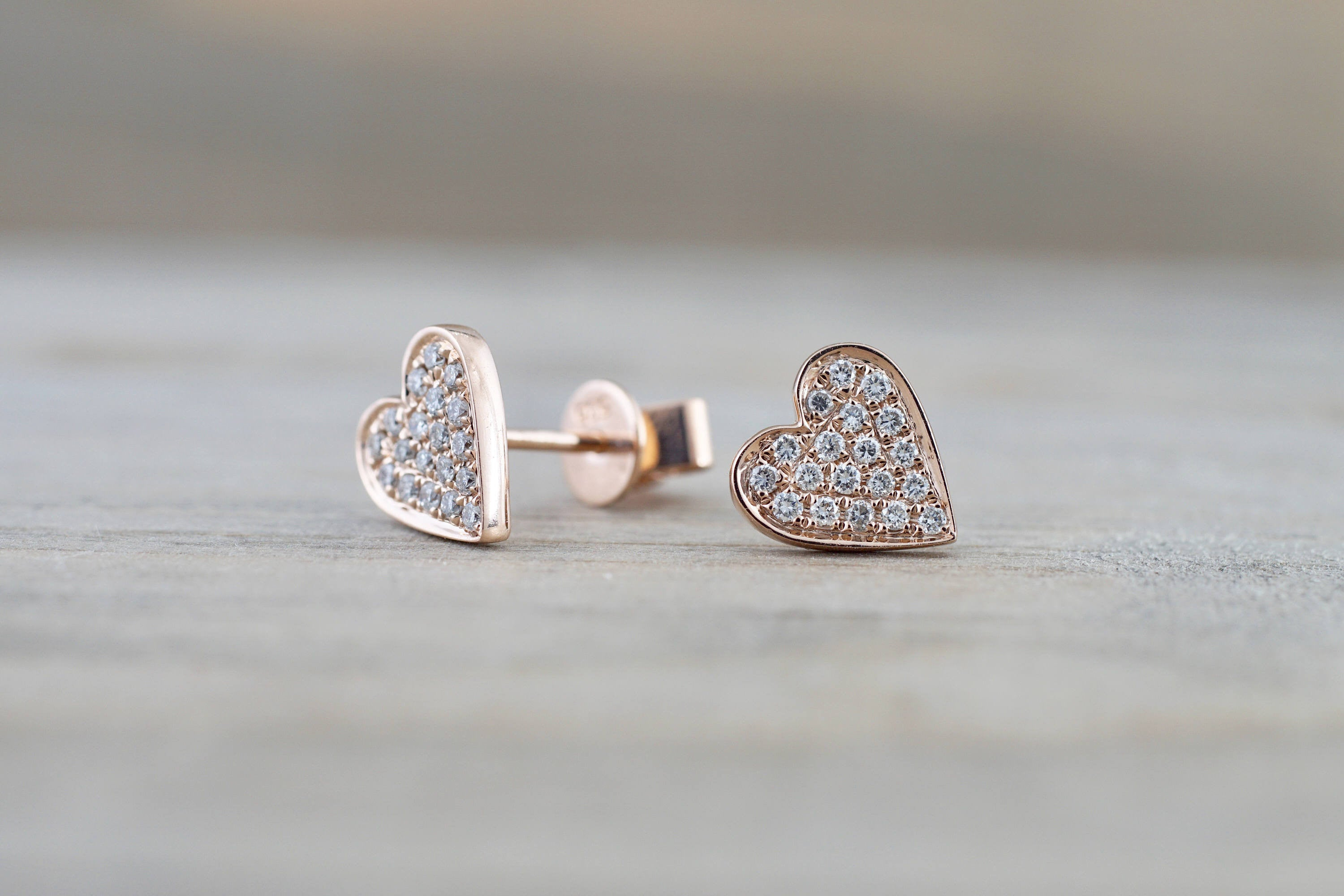 flat pave round heart il post design fullxfull earrings asweetpear studs diamond collections disk micro stud gold rose