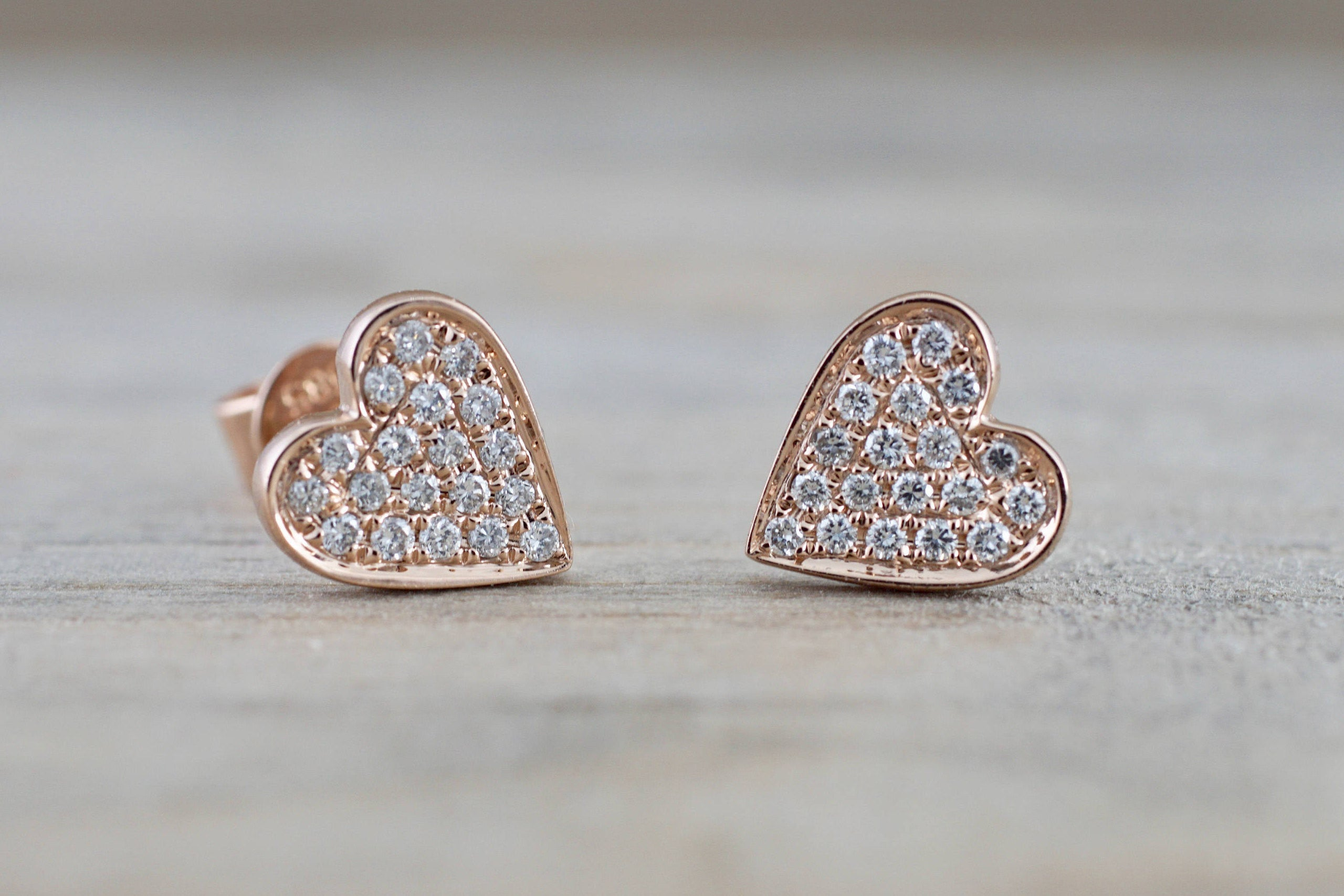 design gold il fullxfull studs earrings flat products stud pave micro post heart diamond rose round disk