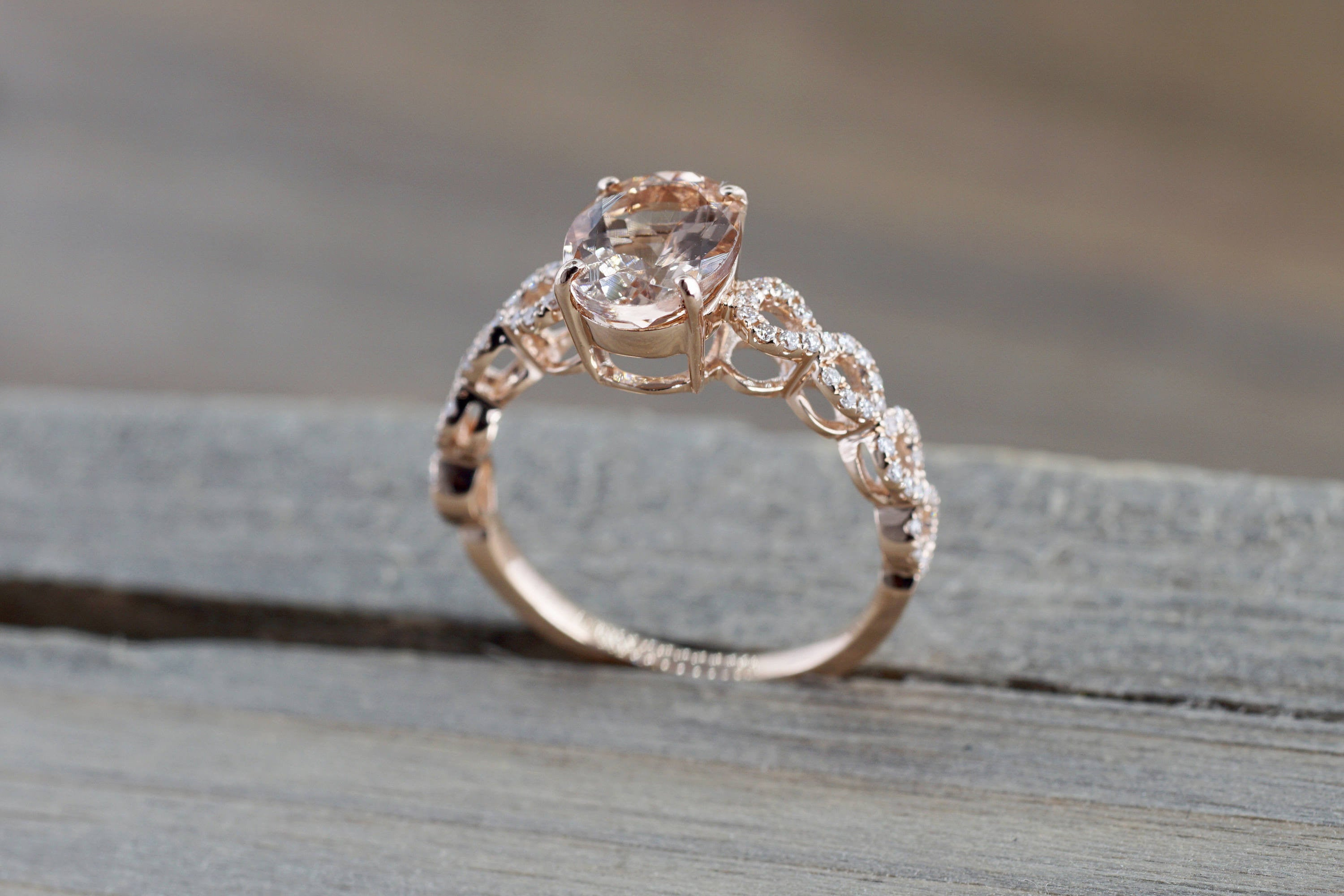 oval rae engagement drj gold engagment dianna twist jewelry rose ring diamond infinity finger product