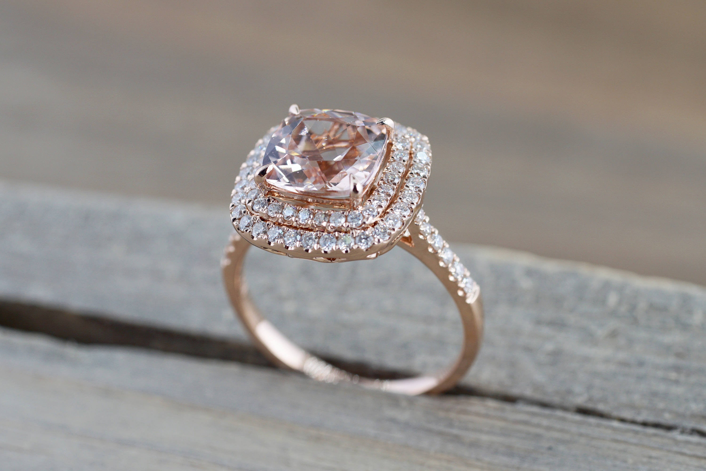 free gold round s box diamond ring rosado rosados cathedral engagement rose morganite eloise and