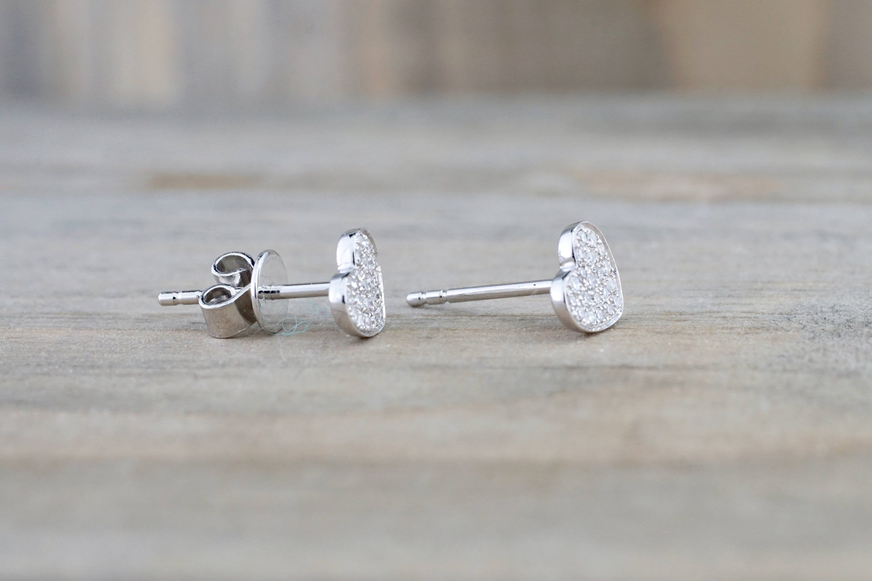 diamond earrings prong buy flat round abelini stud product setting