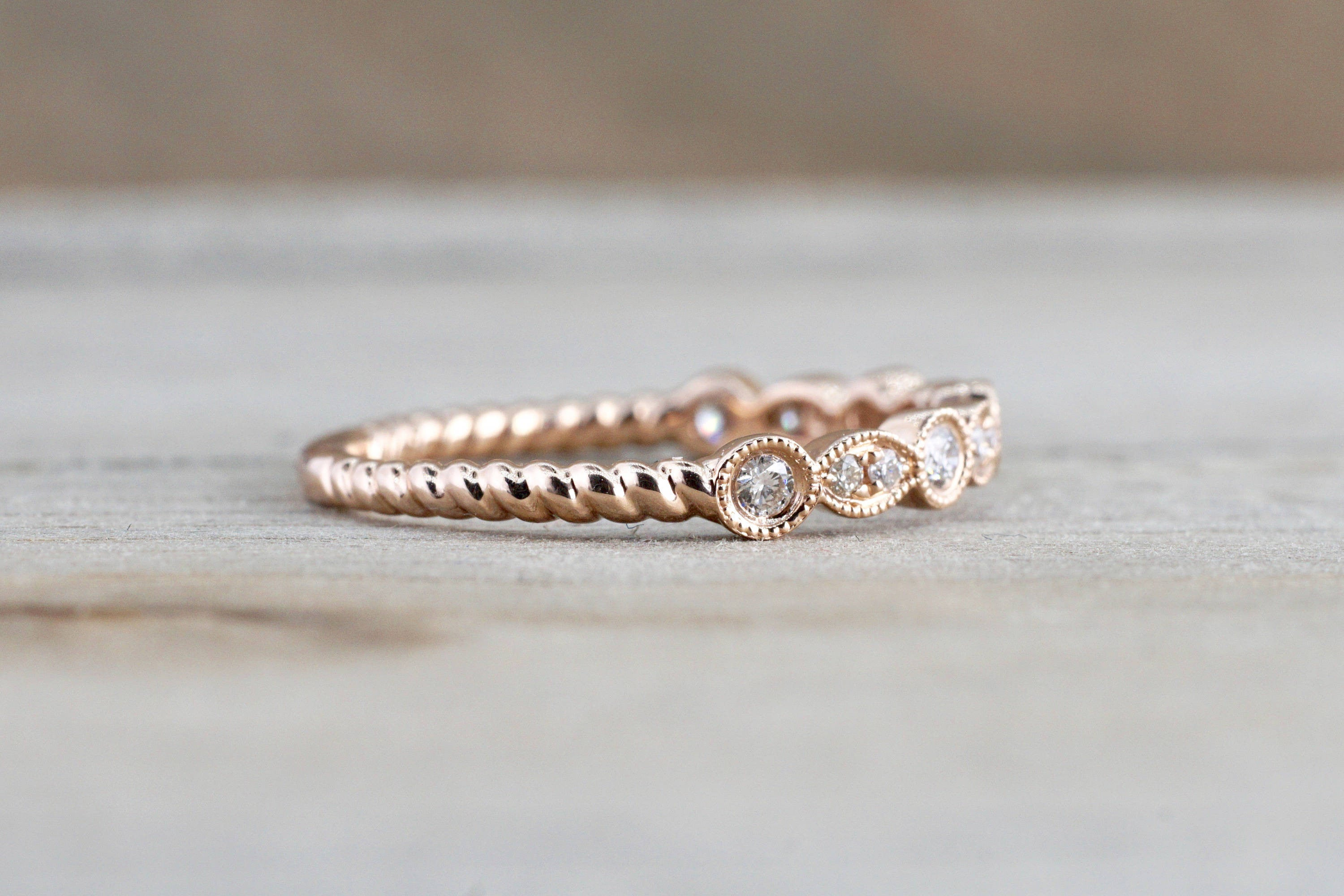 anniversary details from band ringscollection bands com shapediamond buy wedding rose gold shape diamond now etsy ori twisted