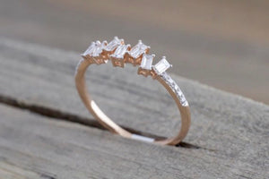 14kt Baguette and Round Diamonds Staggered Cityscape RR010012