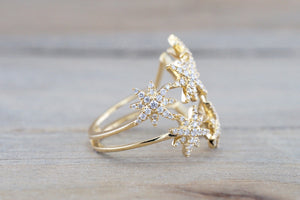 18kt Gold Shooting Star Diamond Ring FR010002