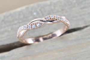 Rope Diamond Twist Vine Ring RR010037