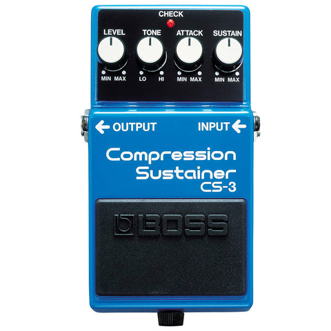 PEDAL DE EFECTO BOSS COMPRESION SUSTAINER CS-3